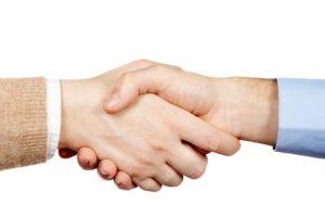 Kättä päälle, luotettavaa kauppaa